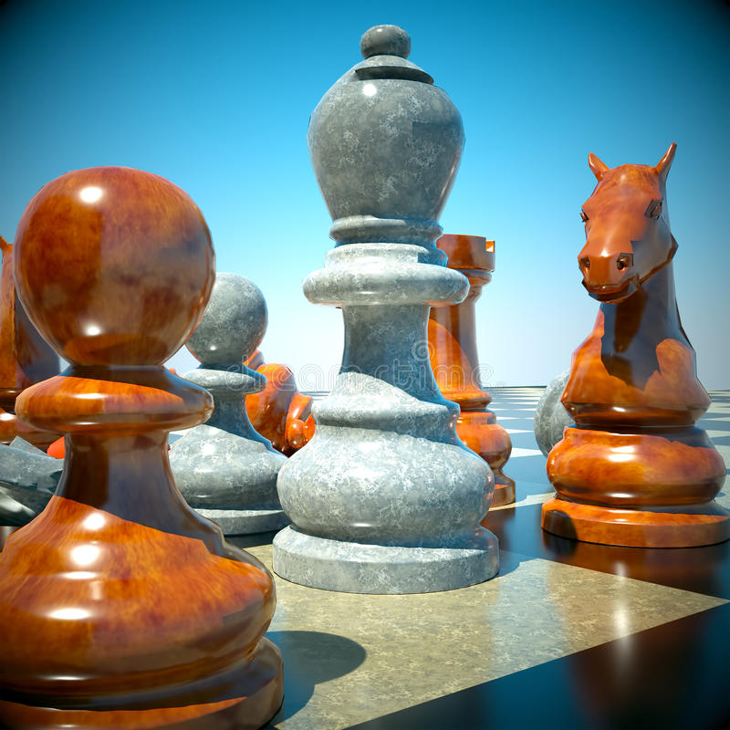 Download Chess battle stock illustration. Image of match, antique - 21002186