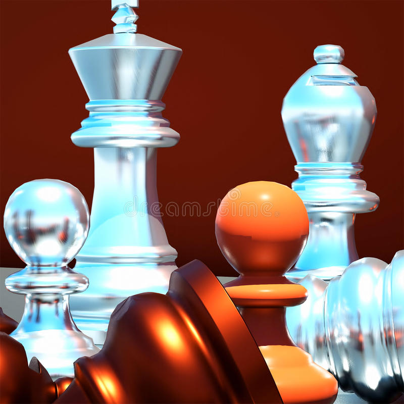 Download Chess battle stock illustration. Image of plan, boards - 21993746