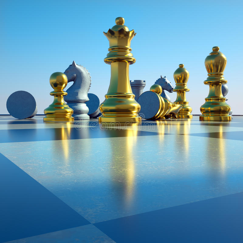 Download Chess Battle Royalty Free Stock Image - Image: 22283086