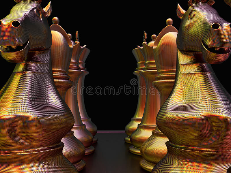 Download Chess battle stock illustration. Illustration of soldier - 23510744