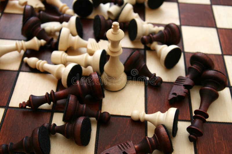 Download Chess Battle... Stock Photography - Image: 4986192