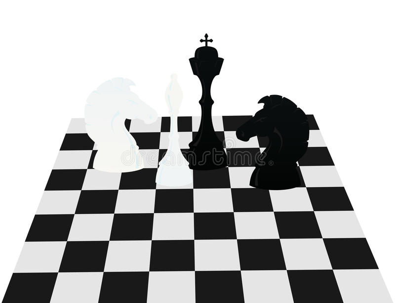 Download Chess on a board stock vector. Illustration of background - 16512957