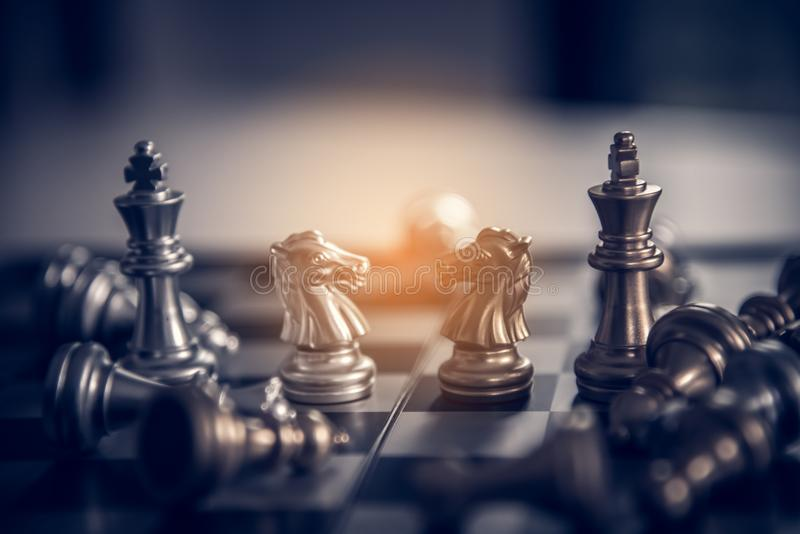 Chess board - A competitive business idea to succeed. Chess board - A competitive business idea to succeed stock photos