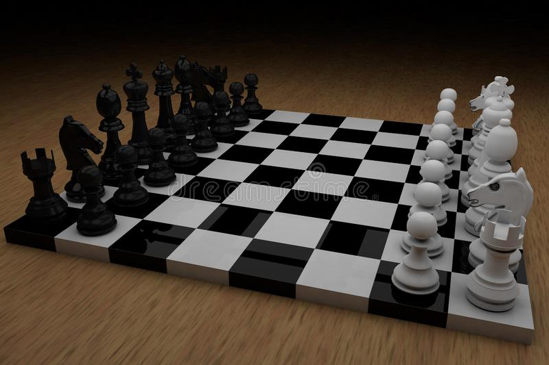 Chess board with figures royalty free stock images
