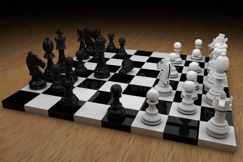 Chess board with figures royalty free stock photos