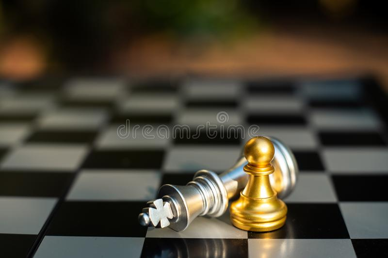 Chess board game, business competitive concept stock image