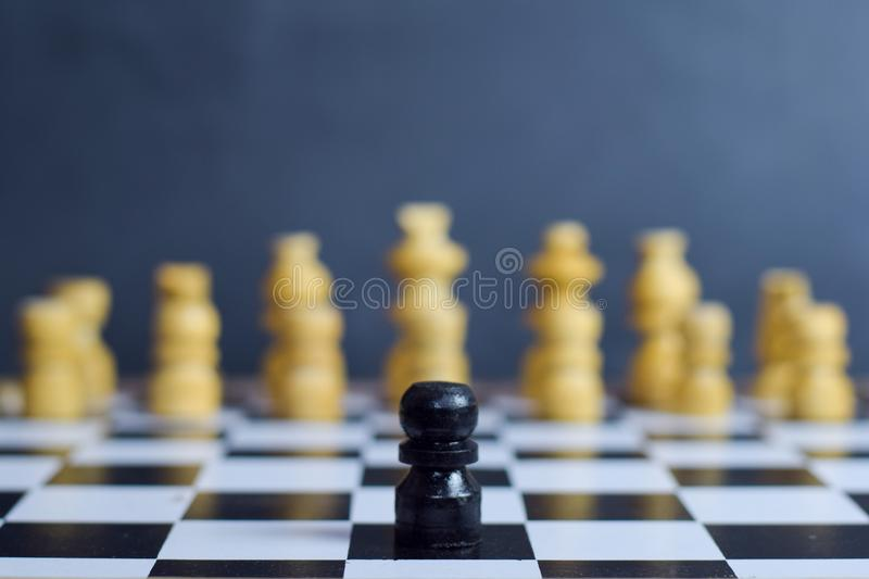 Chess board game. Challenge and Diversity concept stock images