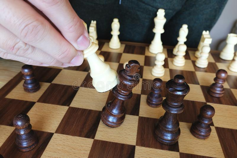 Chess board game, checkmate. Game over. Business planning and strategy concept stock photo