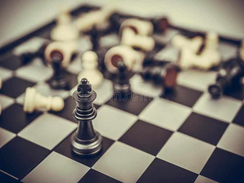 Chess board game concept of business ideas royalty free stock photo
