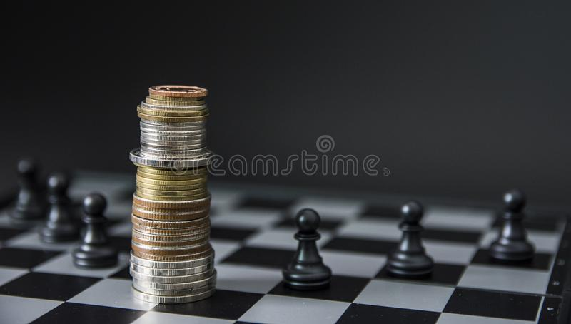 Chess board game concept of business ideas stock photography