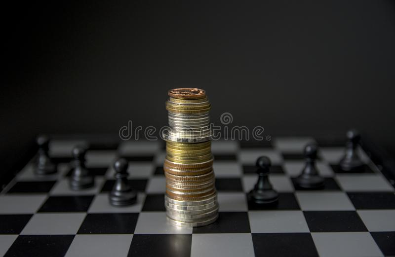 Chess board game concept of business ideas stock images