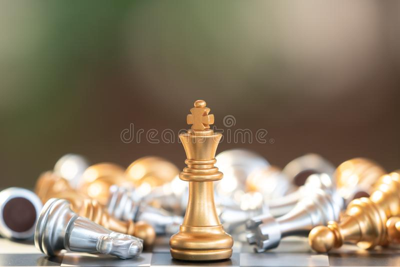 chess board game for ideas and competition and strategy, business success concept royalty free stock image
