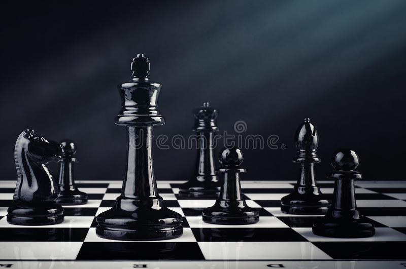 Chess board game for ideas and competition and strategy, business success concept. royalty free stock photos