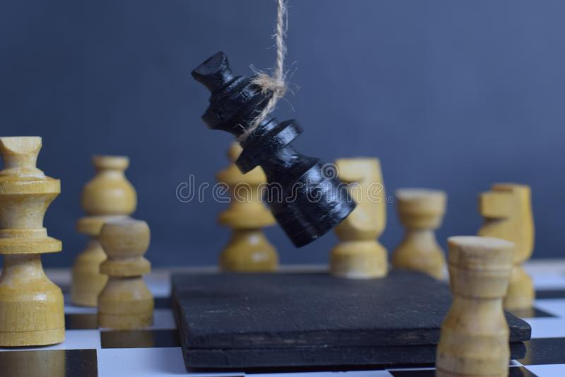 Chess board game. Strategic planning and intelligence concept stock images