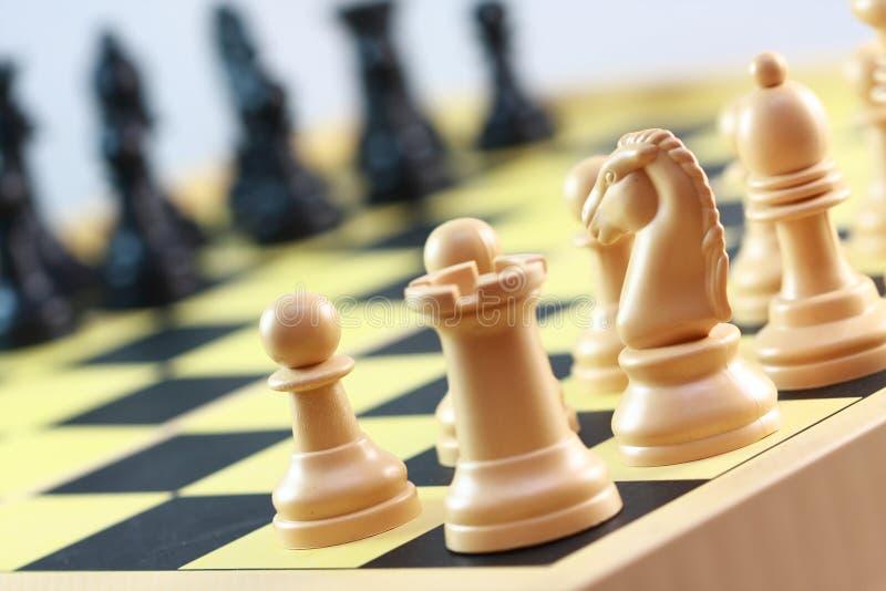 Chess board games stock photos