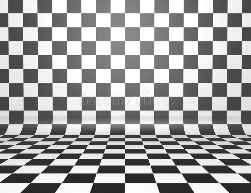 Chess Board Illustration Tiled Background With Black And