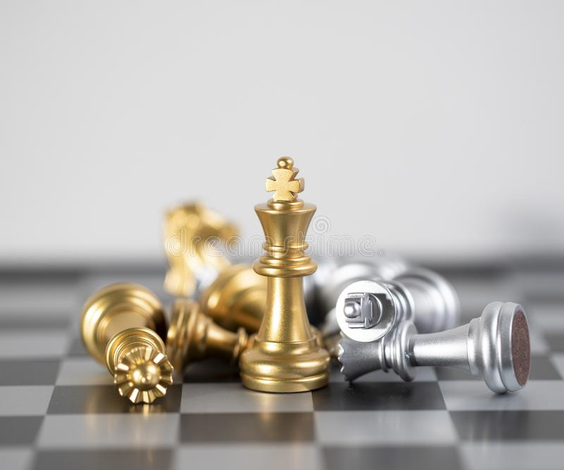 King in only one surviver in this game. Chess board is the intelligence strategy game to make ideas for business and marketing concept, the success ideas is stock photos