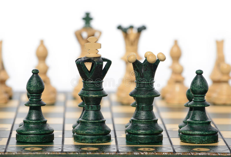 Download Chess board and pieces stock image. Image of checkmate - 26613235