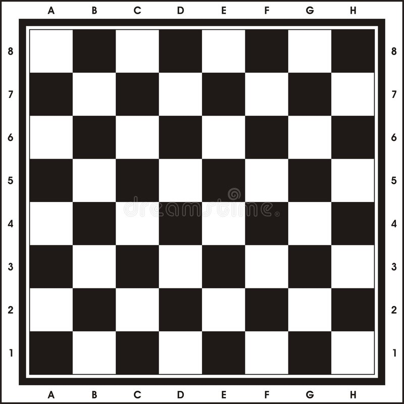 Chess Board - Print & Play stock illustration