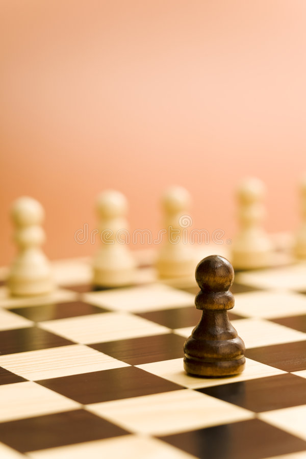 Chess board soldier royalty free stock photography
