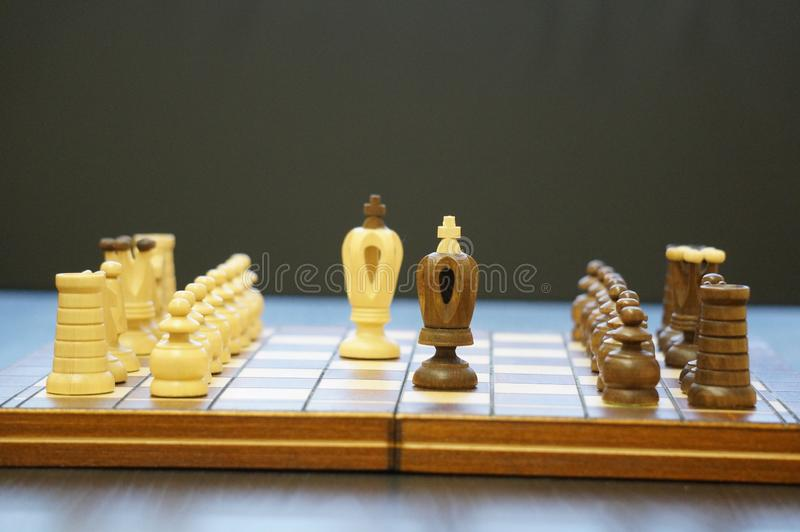Chess is a game for great people stock photography