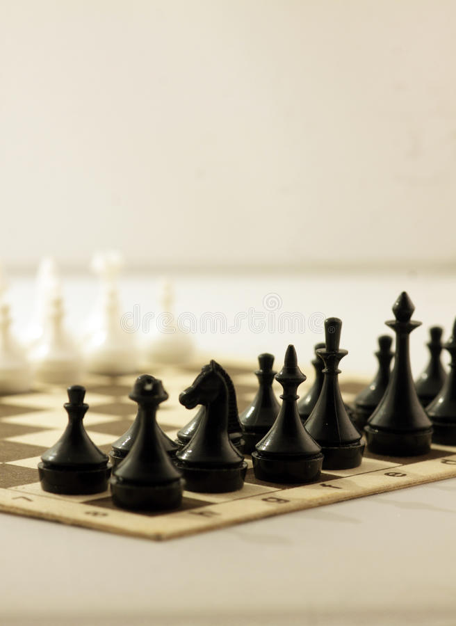 Free Chess Board With Chess Pieces Stock Photo - 66015720
