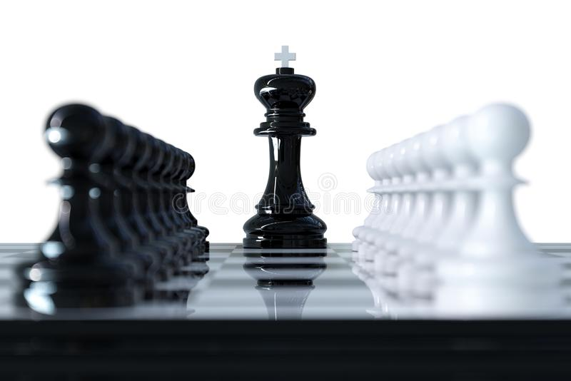 Download Chess business concept stock illustration. Illustration of chessboard - 102860120