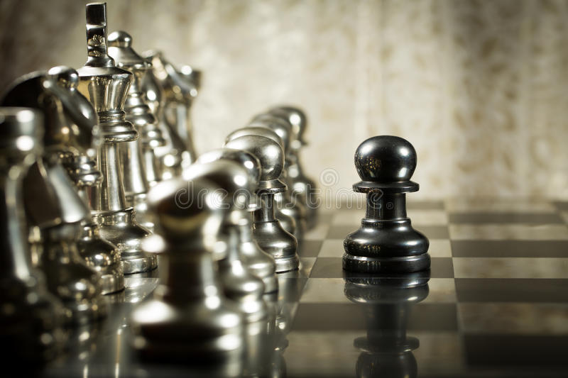 Download Chess Challenge stock photo. Image of alone, concept - 40604440
