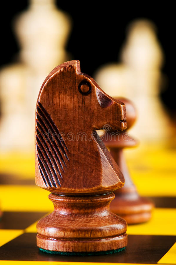 Download Chess concept with pieces stock image. Image of choice - 12910499
