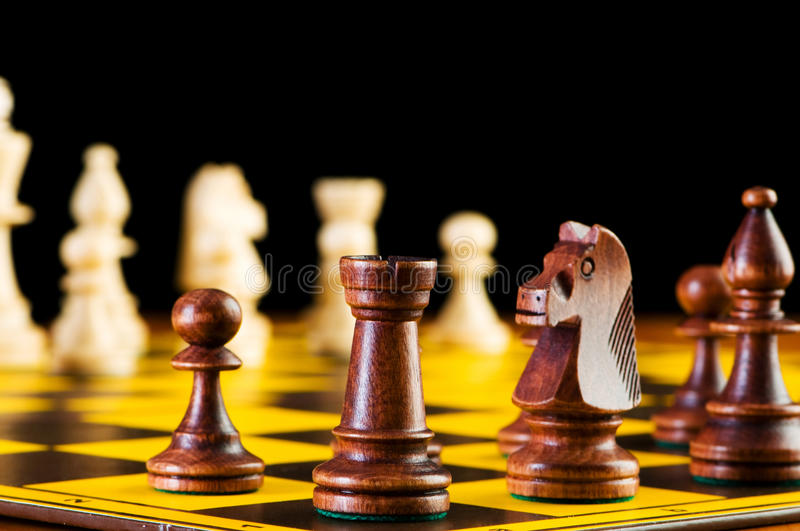 Chess Concept With Pieces Stock Images