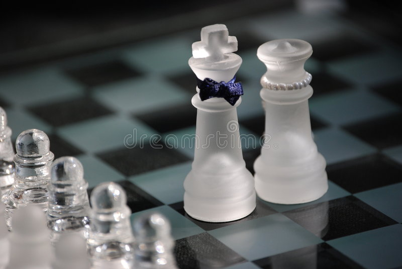 Chess couple royalty free stock images