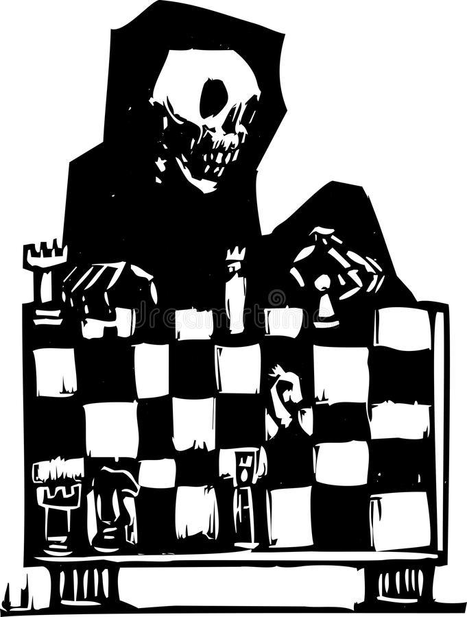 Download Chess and Death stock vector. Image of sickness, death - 26274285