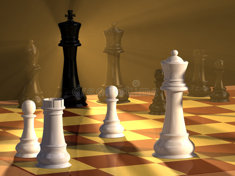 Download Chess duel stock illustration. Illustration of players - 5521375