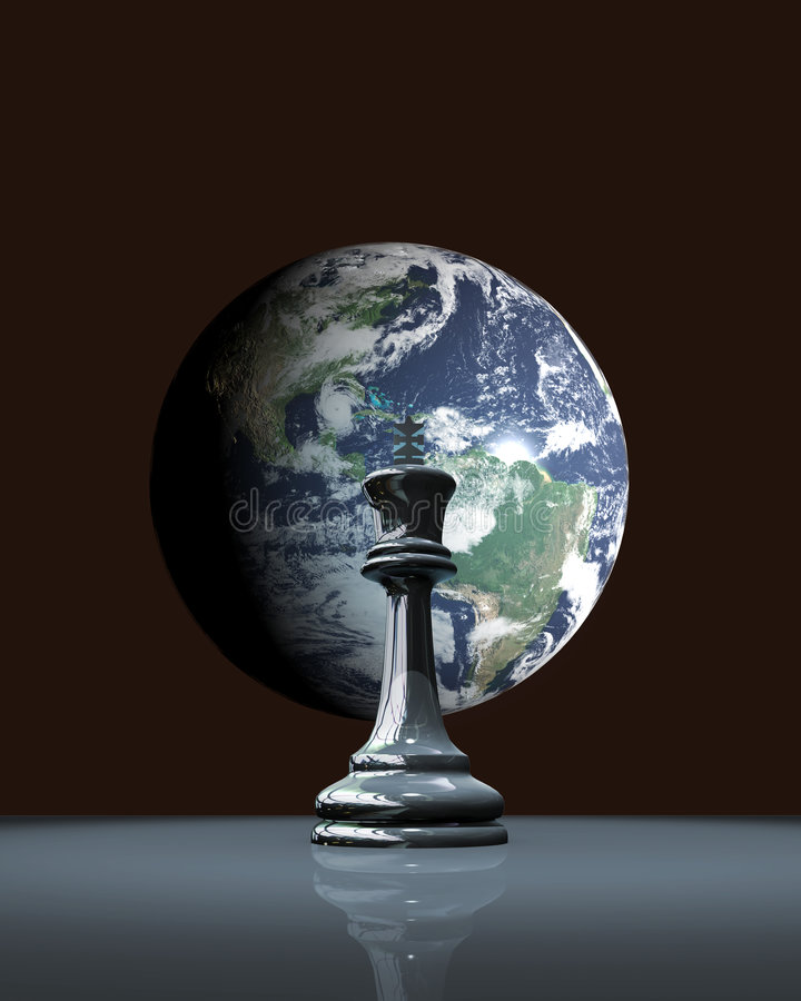 Chess earth royalty free illustration