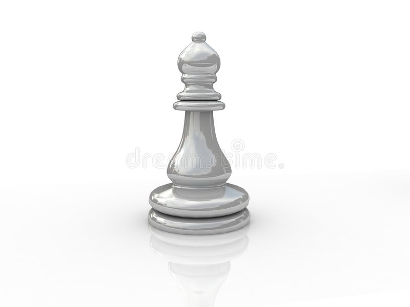 Chess elephant. Background picture of chess board stock illustration