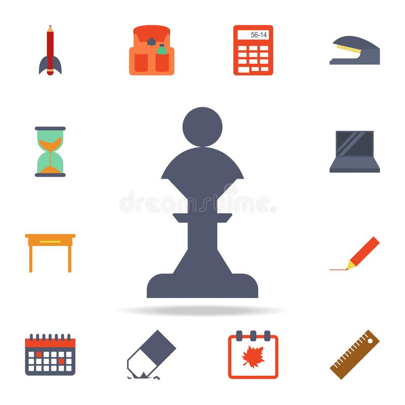 chess figure colored icon. Detailed set of colored education icons. Premium graphic design. One of the collection icons for vector illustration