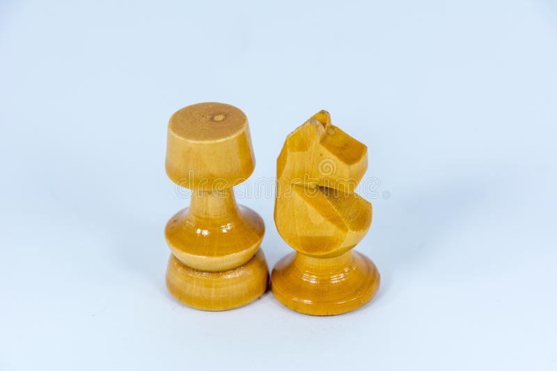 Chess figure rook horse royalty free stock image