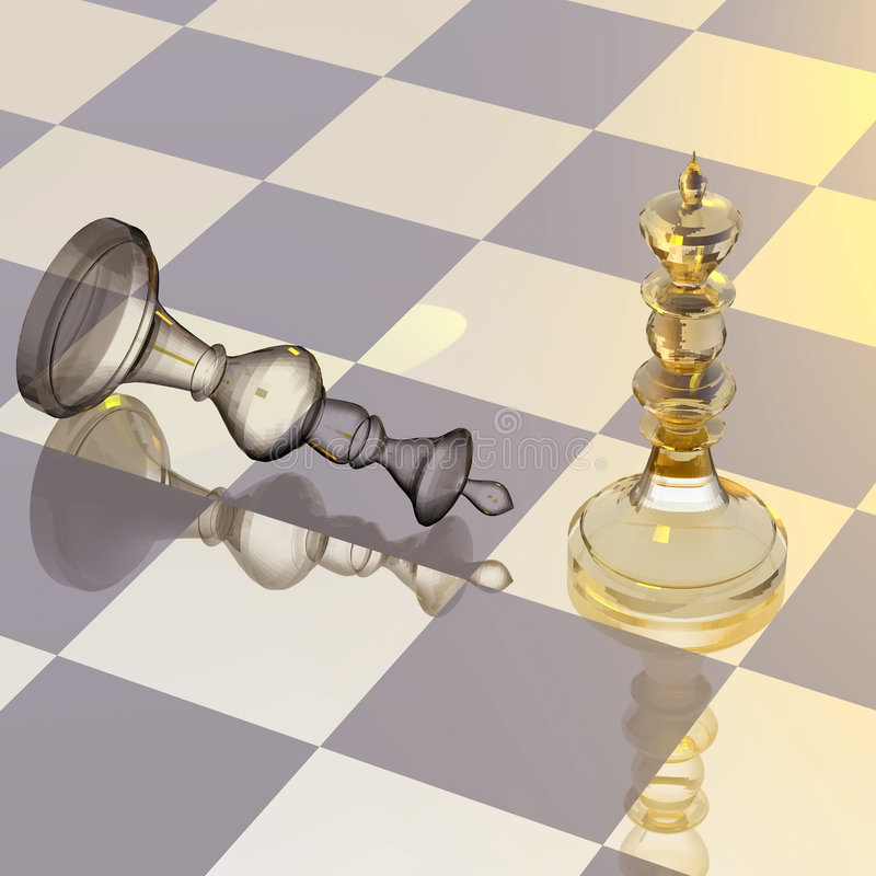 Chess figures 1. Chess figures on chess board royalty free illustration