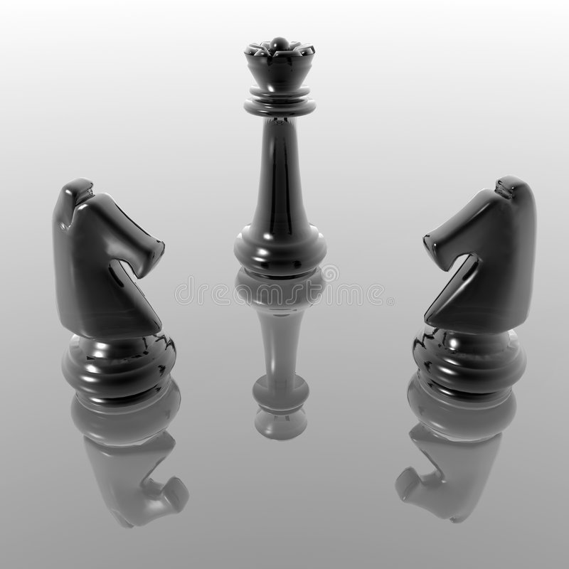 Chess figures stock illustration