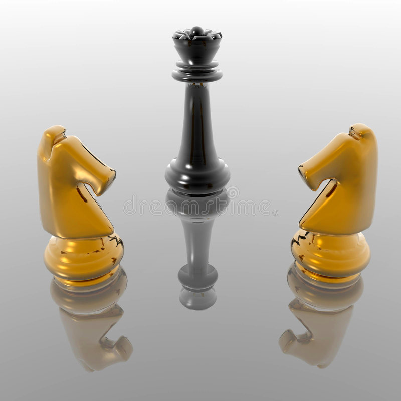 Chess figures royalty free illustration