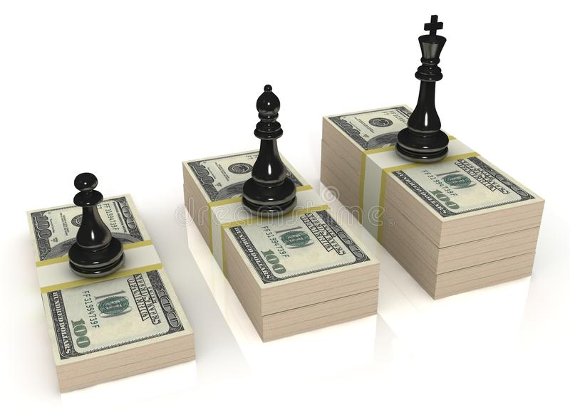 Download Chess Figures (black King, Queen And Pawn) Standin Royalty Free Stock Photography - Image: 25197867