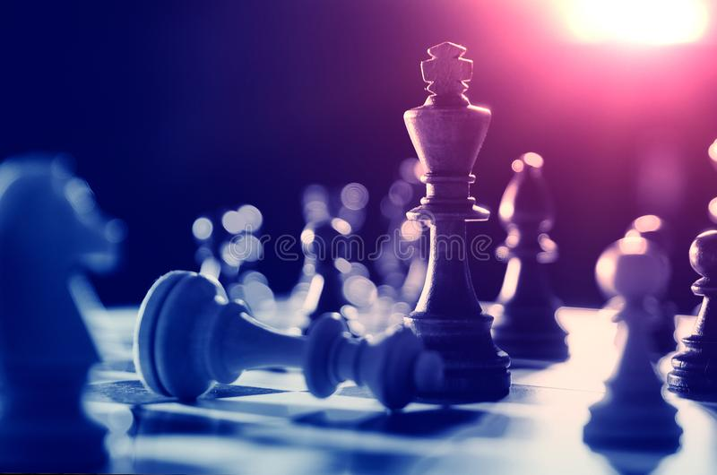 Chess financial, leader strategy in business royalty free stock photo