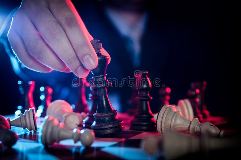 Chess financial, leader strategy in business stock photography