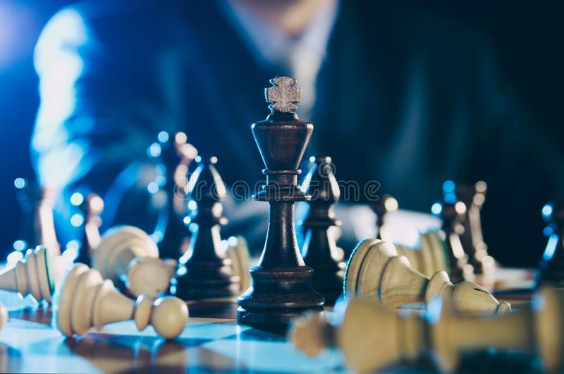 Chess financial, leader strategy in business stock images