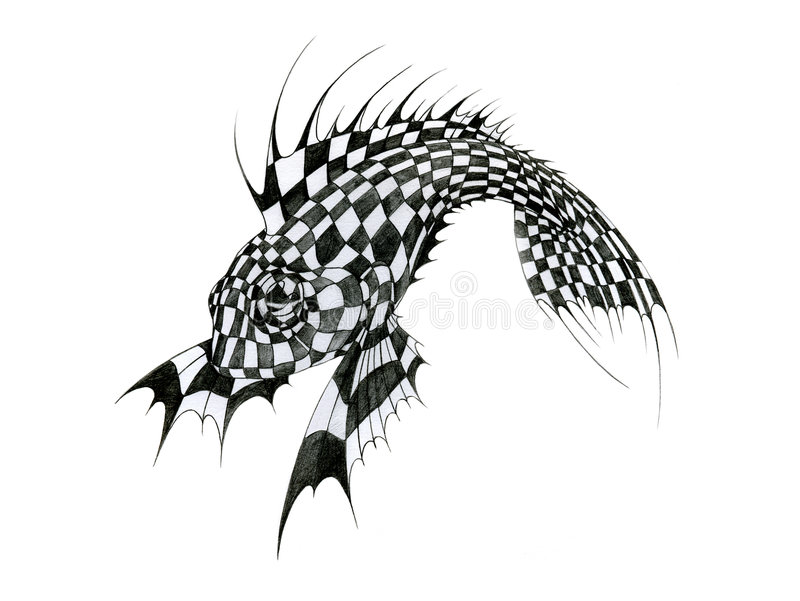 Chess fish stock images