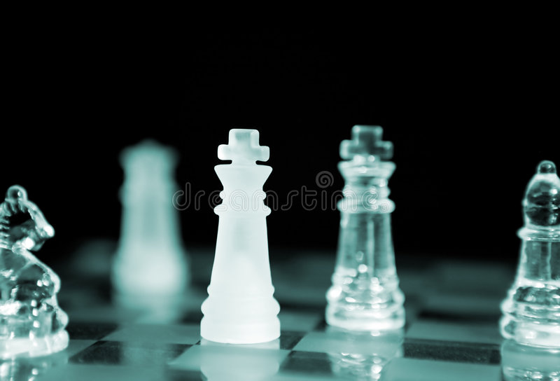 Chess (Focus on close King) stock image