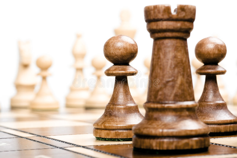 Chess (focus on pawns) royalty free stock images