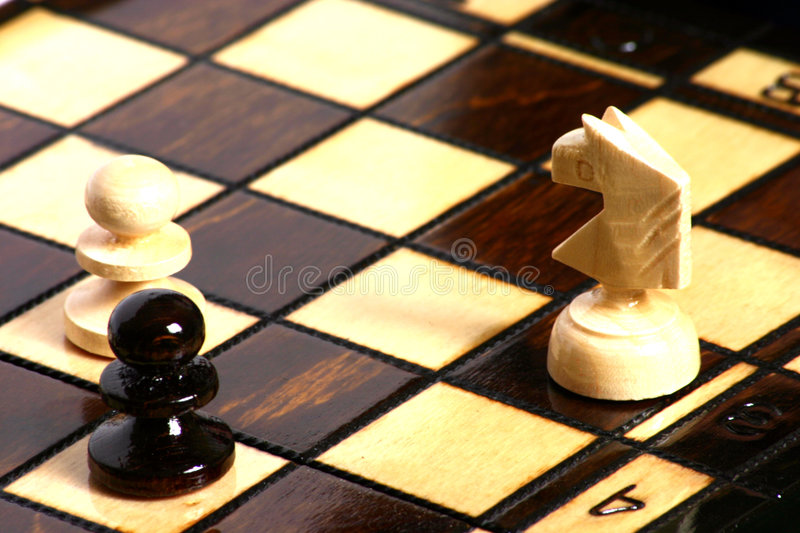 Download A Chess game stock image. Image of indoor, wood, horse - 105689