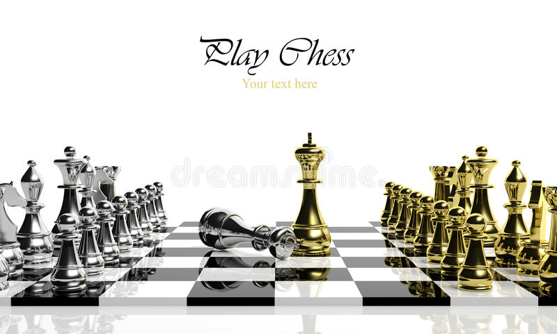 Download Chess game stock illustration. Image of black, looser - 27050209