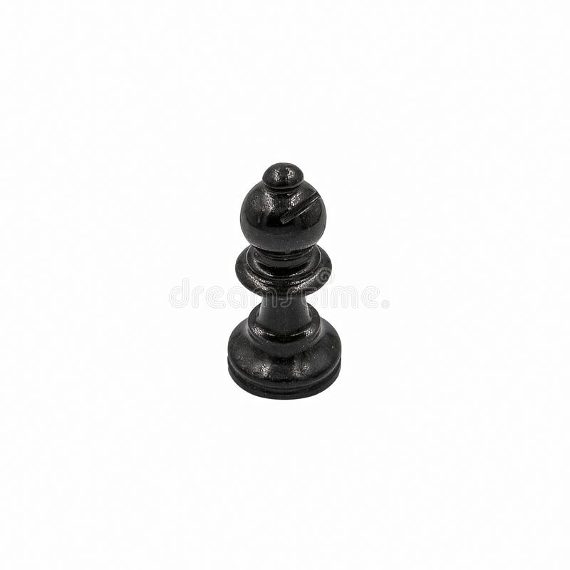 Chess game: The black bishop on white. Black Bishop Chess Game Isolated on White Background - PNG available stock photos